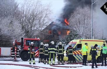 Twee doden bij uitslaande woningbrand Provincialweg Maren Kessel
