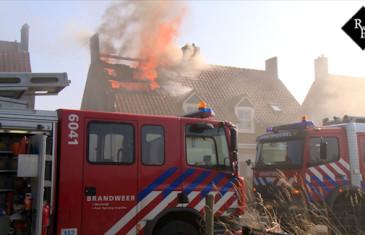 Uitslaande woningbrand Sweensstraat Kaatsheuvel