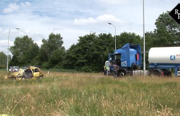 Dodelijk ongeval auto-tankwagen Turnhoutsebaan Goirle