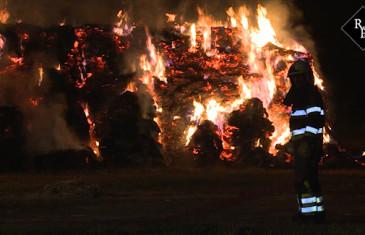 36 hooibalen van 500 kilo in brand Mariendonkstraat Elshout