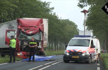 Dodelijk ongeval auto vrachtwagen Provincialeweg N848 Vuren