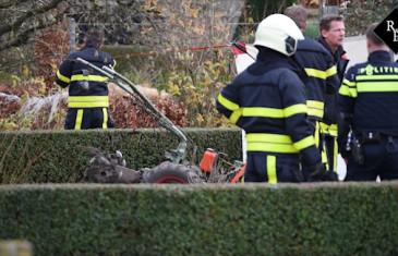 Man verliest been bij omfrezen achtertuin Oranjestraat Gilze
