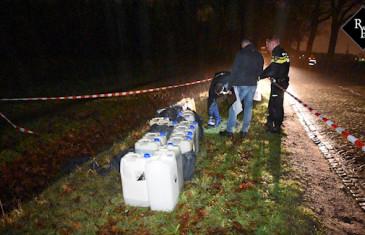 Dumping drugsafval Nieuwkerksedijk Zuid Goirle