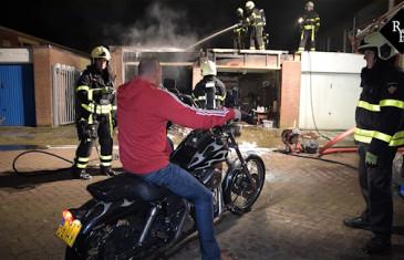 Garagebox uitgebrand Europalaan Tilburg