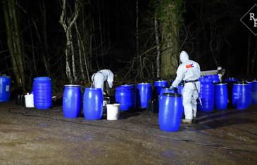 20-tal 100 liter vaten met drugsafval gevonden Valkenberg Gilze