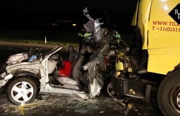 Ongeval meerdere vrachtwagens en personenauto's A73 Boxmeer