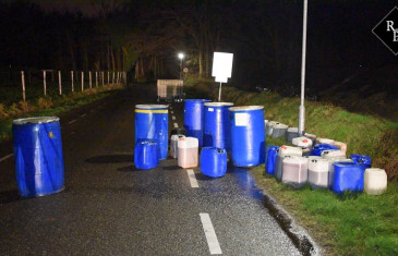 Grote dumping drugsafval Kommerstraat Hilvarenbeek