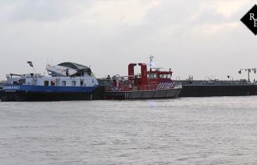 Scheepvaartongeval op de Waal bij Zuilichem