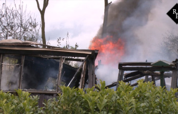 Uitslaande brand in chalet op Toppark De Leuvert Loverensestraat Cromvoirt