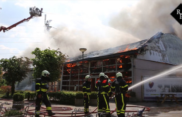 Grote brand sporthal Stokeind in Moergestel