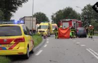 Dodelijk ongeval auto – vrachtauto Vierbundersweg Dongen
