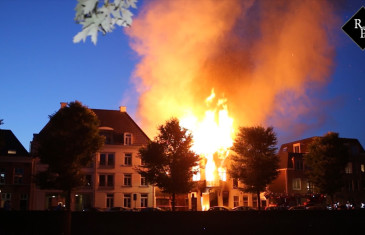 Grote brand in pand Westwal Den Bosch
