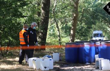 Dumping drugsafval Kanaaldijk Biest-Houtakker