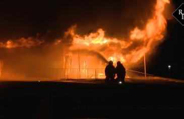 Grote brand sportcomplex De Contreie Weststadweg Oosterhout