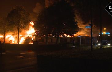 Compagniebrand bij Koster Keunen aan de Raambrugweg in Bladel