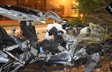 Auto klapt op vrachtwagen Rielseweg – Clara Zetkinweg Tilburg