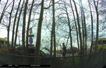 Timelaps kop-staart aanrijding Burg. Ballingsweg Gilze