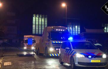 Politie-inval oud fabriekspand Wärtsilä Lipsstraat Drunen