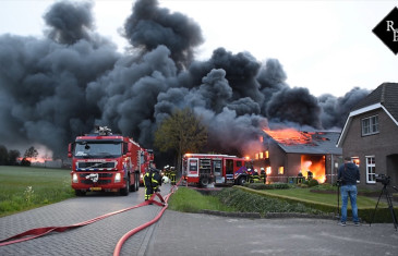 Grote brand in champignonkwekerij Bavel (Grip2)