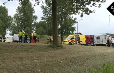 Frontale aanrijding bestelauto – camper Kromme Nol Wijk en Aalburg