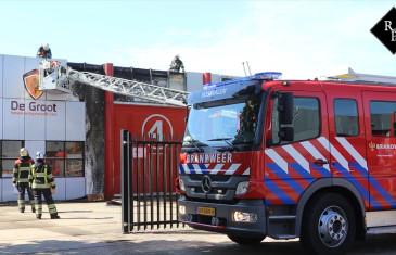 Brand machinefabrikant De Groot in Rosmalen na ongeluk met onkruidbrander