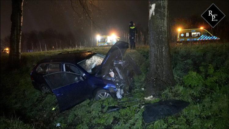 Auto raakt van de weg op A59 bij Elshout