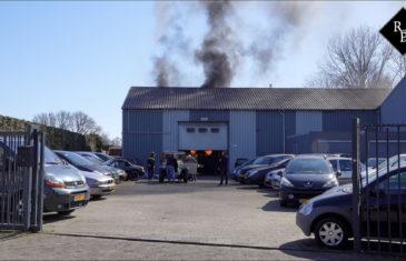 Auto in brand op brug autogarage Kasteellaan Drunen
