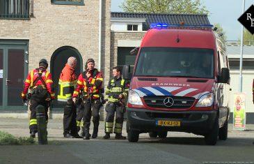Hoogte Reddingsteam brandweer Rotterdam redt Telecommedewerker in kerktoren