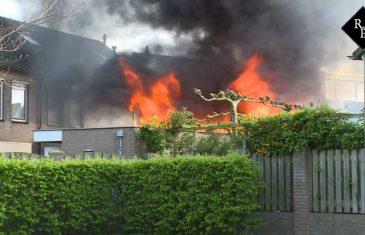 Uitslaande brand verwoest schuur Argentiniëstraat Drunen