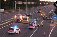 Ongeval met meerdere auto's A2 Boxtel