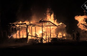 Chalet compleet uitgebrand op camping Fortduinen in Cromvoirt