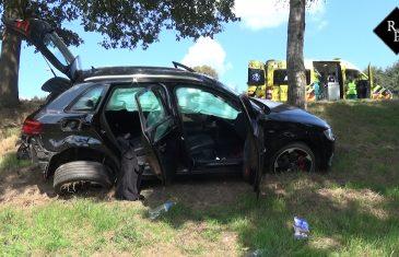 Autodieven vliegen uit bocht tijdens politieachtervolging
