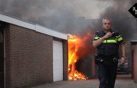 Garage door brand verwoest Wilhelminastraat Rijen