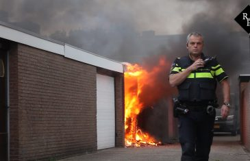 Garage door brand verwoest Wilhelminastraat Rijen