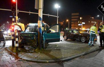 Vier gewonden bij aanrijding op de kruising Broekhovenseweg – Ringbaan Zuid in Tilburg