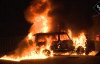 Auto uitgebrand door vuurwerkbom aan de Bosschen in Drunen