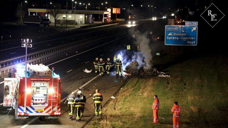 Dodelijk ongeval A59 Sprang-Capelle