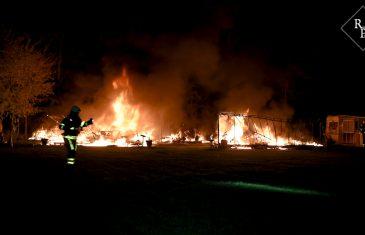 Caravans verwoest door vlammenzee op camping Klein Oisterwijk