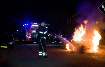 Autobrand Sint Crispijnstraat Nieuwkuijk