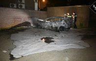 Autobrand aan De Dommel in Tilburg