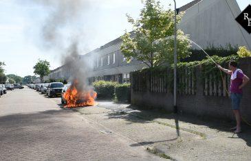 Autobrand Midslandstraat Tilburg