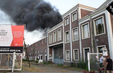 Uitslaande brand voormalige Van Besouw fabriek Goirle