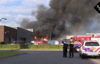 Zeer grote brand bij afvalverwerker Maton in Waalwijk