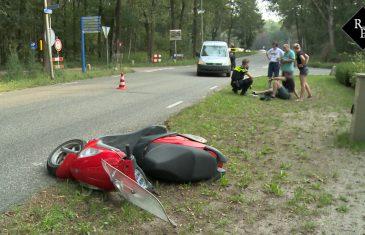 Ongeval auto vs scooter Duinweg Drunen