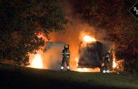 Gestolen bestelbussen uitgebrand Wethouder van Buulweg Vlijmen