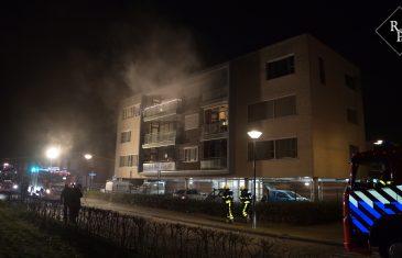 Appartement in brand aan de Tweede Zeine in Waalwijk