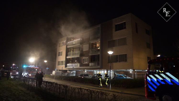Hond komt om bij brand in appartement Waalwijk