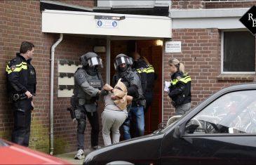Arrestatieteam val huis Gregoriusstraat Tilburg binnen