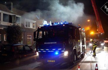 Uitslaande woningbrand Putstraat Waalwijk
