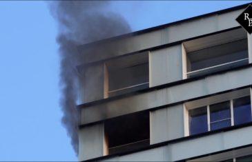 Woningbrand op 22e etage in woontoren
